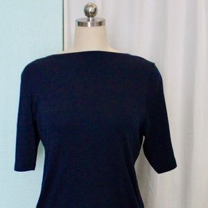 Charter Club Navy Blue Top